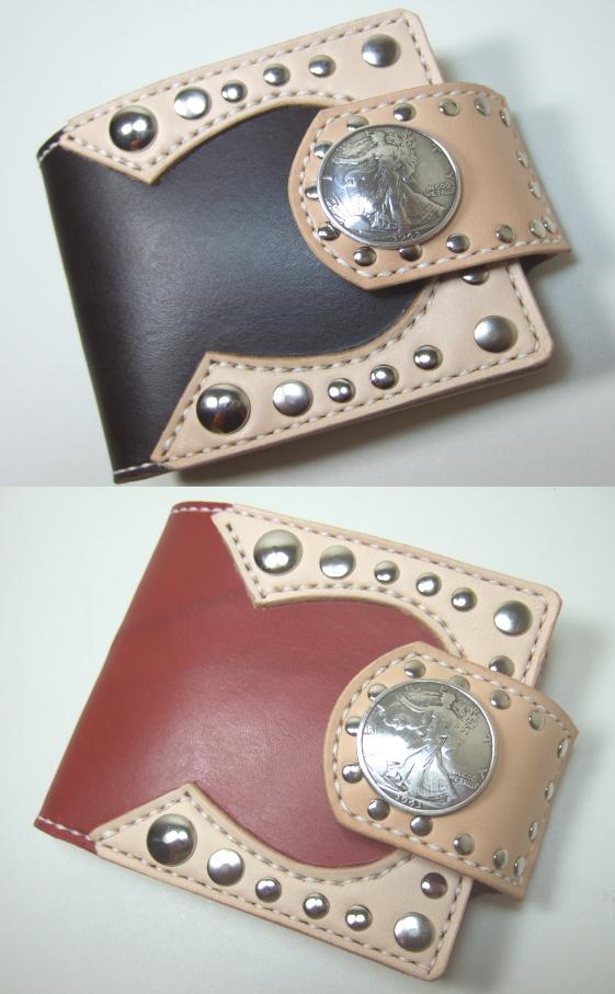 革財布・二つ折り2w-007